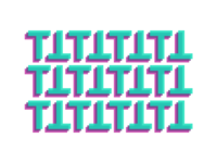 Type Experiment pattern typography t