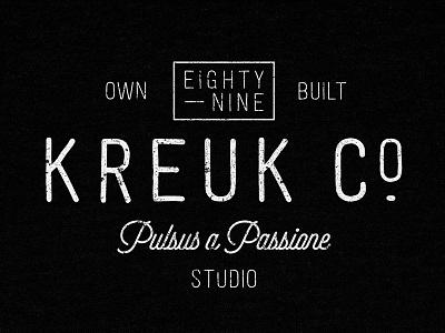 Kreuk Co typography branding tee kreuk studio
