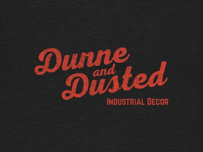 Dunne & Dusted industrial branding logotype logo