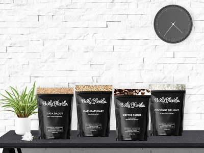 BodyBlendz Australia Packaging scrub coffee design packaging pack