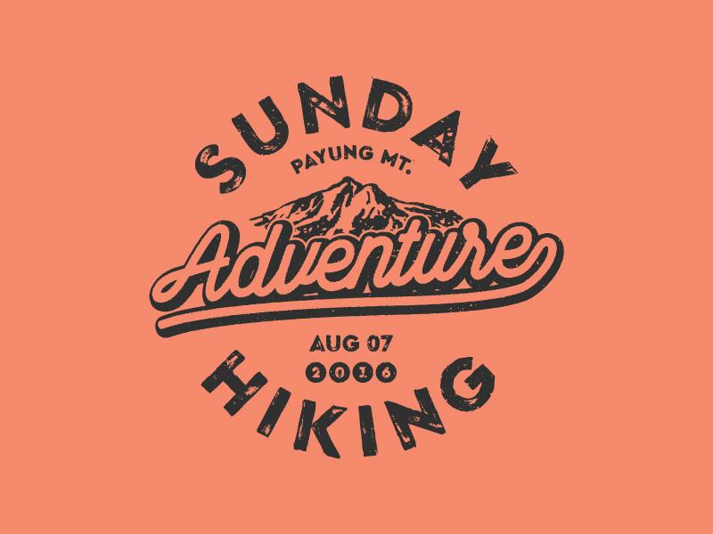Sunday Hiking adventure outdoor mark logomark logo hiking sunday