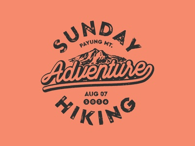 Sunday Hiking adventure outdoor mark logomark logo hiking sunday