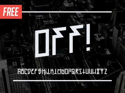 Free Typeface: OFF! typography fonts font free typeface display off