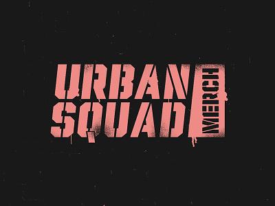 Urban Squad apparel merchandise squad urban texture minimal artwork logo