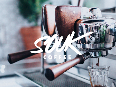 Souk Coffee brand coffee cafe logo font calligraphy lettering typography logotype logo