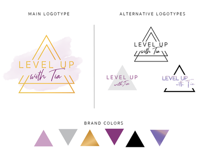 Level Up with Tia - Logotype