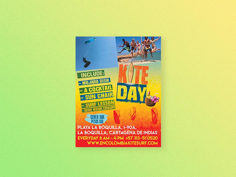 Flyer Kite Day photoshop ads blue flyer adveristing design print flyer design flyer artwork