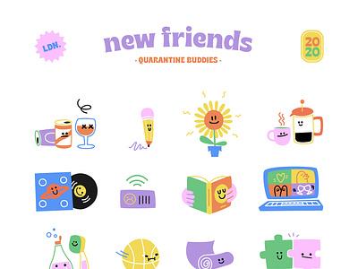 Quarantine friends vector illustration vector quarantine friends