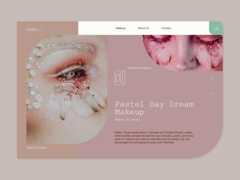 MakeUp bodypaint flower dream pastel ux eye pearls ui web makeup