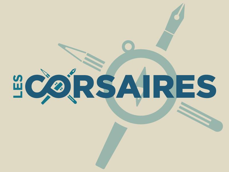 """""""Les Corsaires"""" logo typography branding logo"""
