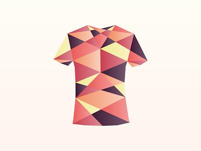 Origami tshirt origami logo branding icon