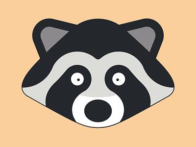 Cute raccoon head cute head raccoon