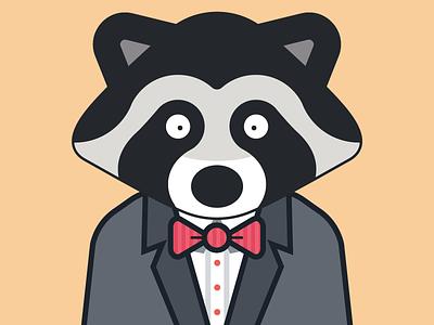 Raccoon in a suit bowtie cute suit raccoon