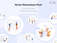 Business Software Vector Concept & Dribbble Invite