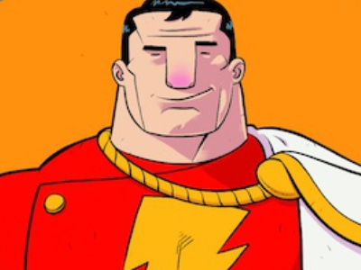 Shazam ipad pro art comics