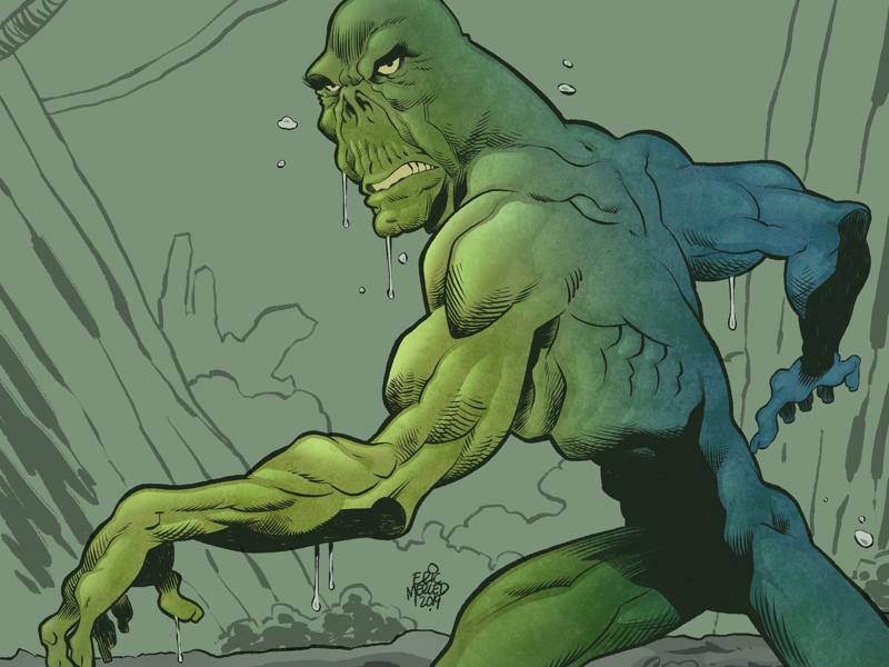 Swamp Thing superheroes inks line art monsters creatures comics. dc thing swamp