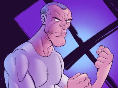 Brawler-Color cartoonist artist art apple pencil art apple pencil ipad pro ipad digital fists fighter brawler character comics