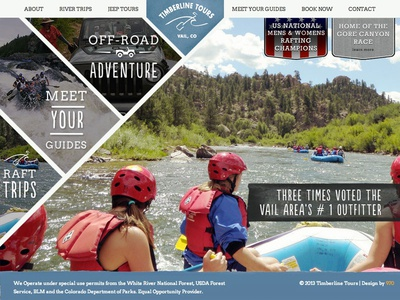 Timberline Tours New Website rafting timberline tours 970 design vail co adventure rivers maps