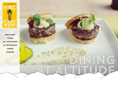 V•BC Restaurant Week vail beaver creek restaurant week food minimal web 970 design
