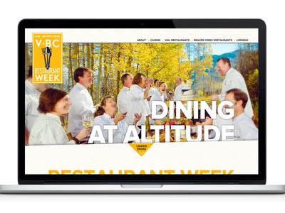 V Bc V2 vail beaver creek restaurant week food minimal web 970 design