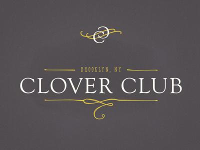 Clover Club Mark & Logo Concept logo script rebrand cocktail bar brooklyn