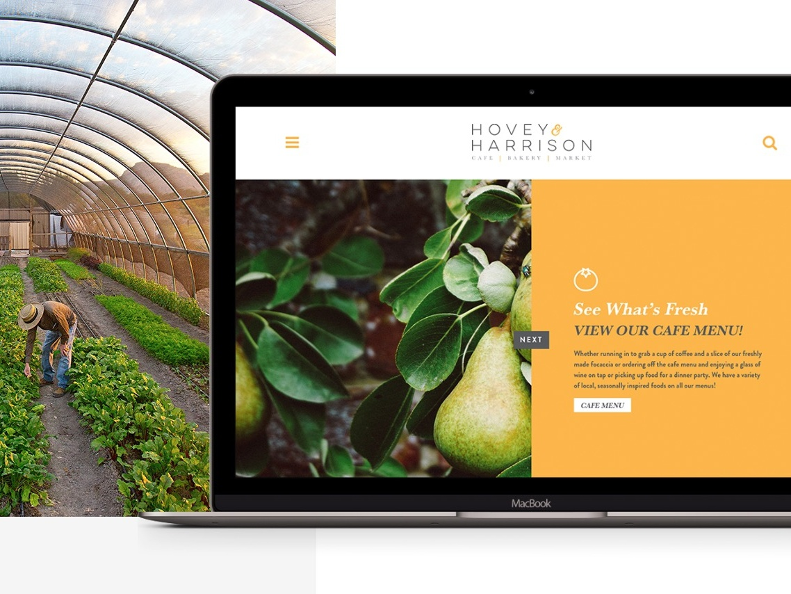 Hovey & Harrison foodie food design minimal farm vail website 970 design restaurant