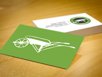 Homegrown Landscapes Cards business cards wheelbarrow vail landscape 970 design