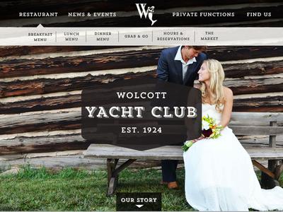 Wolcott Yacht Club yacht club weddings website type badge vail concept