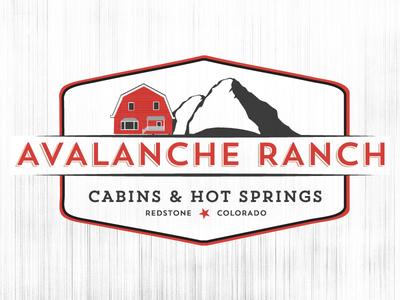 Avalanche Ranch Logo Concept avalanche ranch logo farm badge ski barn mountain cabins hot springs