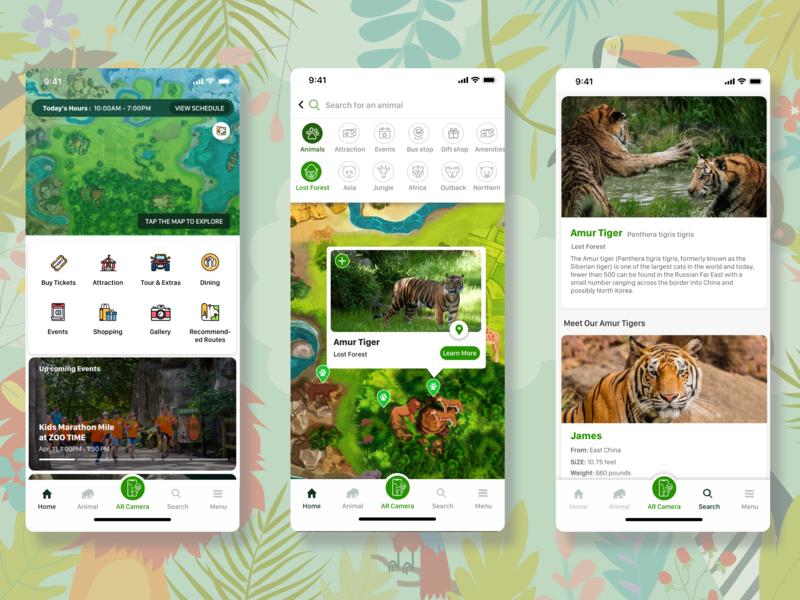 Zoo App UX/UI Design app ux ui design
