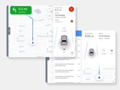 Car Navigation Screen