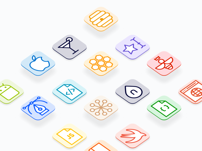 Nectar - GitLab Project Avatars git repo glyph illustration icon ui