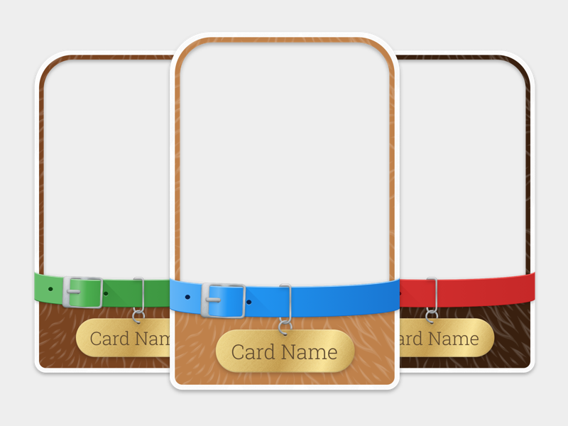 Cards - Pets Insert Set web trading pack game design cards