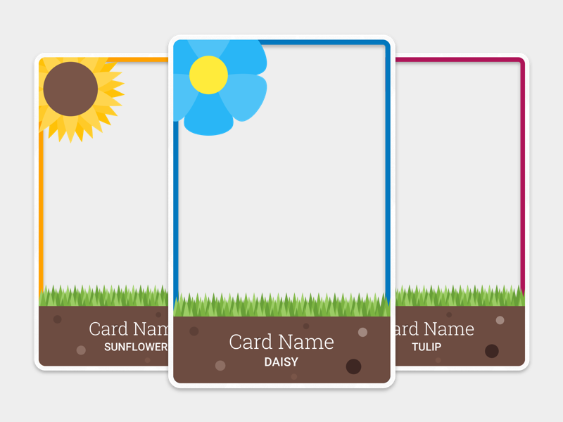 Kitten Cards - Garden Cat Insert Set web trading pack game design cards