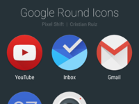 Pixel shift   round icons