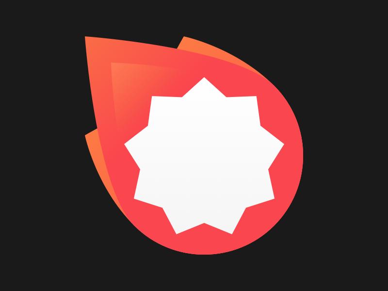 Starfire Branding material design comet fireball gaming branding