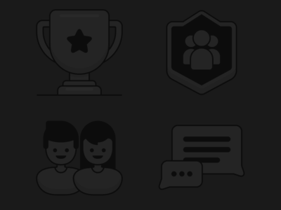 Starfire Empty / Loading State Graphics chat friends clan group trophy ux ui