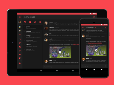 Starfire Chat material design web ux ui mobile ios android