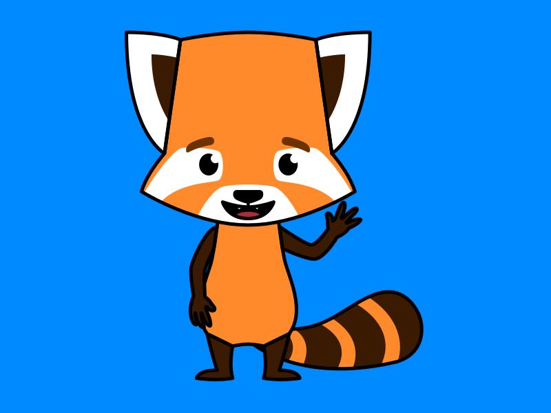 Clay the Red Panda personality emotions mascot character bot