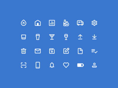 Nectar UI Icons material design bar ios android web