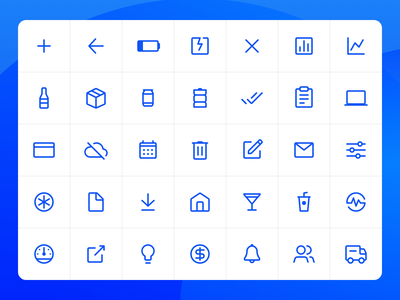 Nectar Icon Set 2019 outline mobile ios android web design system iconography ui
