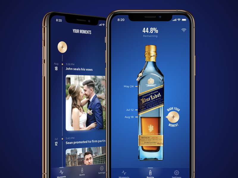 Johnnie Walker × Nectar whiskey liquor ios mobile ux ui