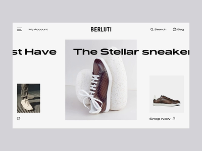 Berluti Landing Experience app navigation homepage ux design web product interaction principle ecommerce fashion website webdesign concept creative experience experiment landing animation ui