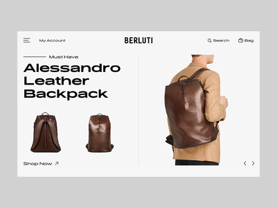 Berluti Product Carousel experience creative concept prototype website store transition widget carosuel clean minimal design ecommerce web principle product fashion interaction animation ui