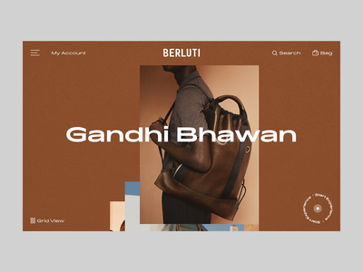 Berluti Editorial Landing Page creative concept web magazine editorial carousel interaction transition animation loading e-commerce ecommerce store product fashion ux ui principle web design landing page