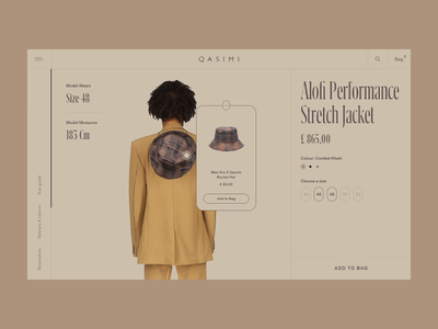 Product Page Experience experimental experience detail clothes microinteraction ux page tooltip shop creative transition concept ecommerce web principle product fashion interaction animation ui