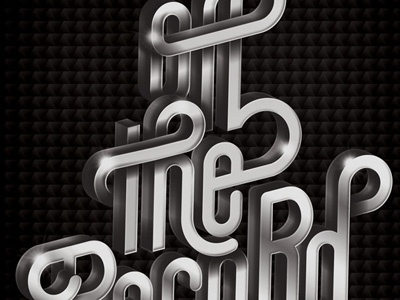 Off The Record typo typography lettering chrome vector