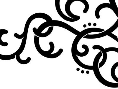 WIP wip work in progress curly flourish spiral