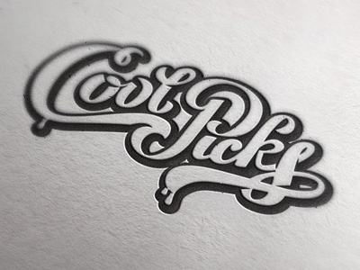 Coolpicks coolpicks lettering logo