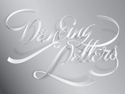 Dancing Letters dancing letters typo typography lights shadows hilka riba grafixd ligature